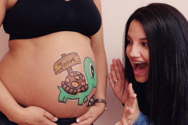 Belly painting  tortuga