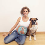 belly painting a domicilio con mascota