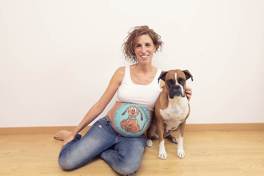 belly painting con mascota