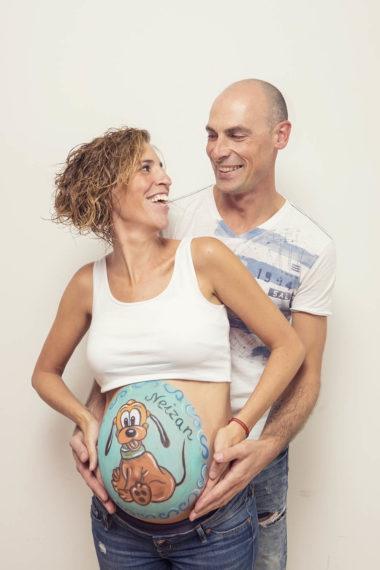 belly painting en pareja
