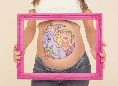 pintura corporal para embarazada