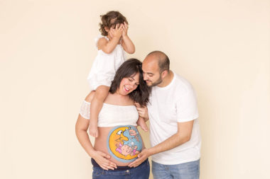 Belly painting en familia