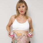 Foto de sesión de Belly painting de Campanilla